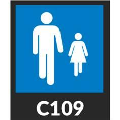 Marquage au sol en thermocollée Type C et Type CE Panneaux d´indication, interdiction, stationnement et obligation