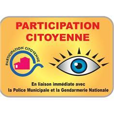 Panneau Participation citoyenne en liaison avec la gendarmerie - Type routier - H 350 x L 500 mm - Classe 1
