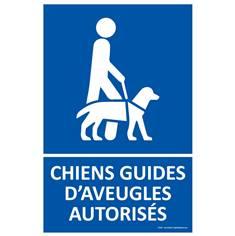Panneau Chiens guides d´aveugles