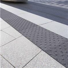 Dalle podotactile granitée - Adhésif épais - 400 x 600 mm - Extérieur
