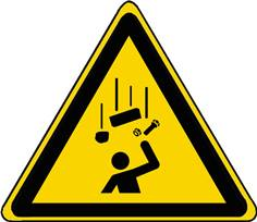 Panneau Danger Chute d´objet ISO 7010 - W035