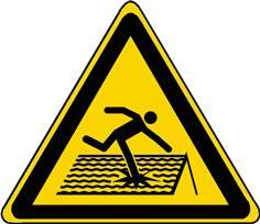 Panneau Danger Toiture fragile ISO 7010 - W036