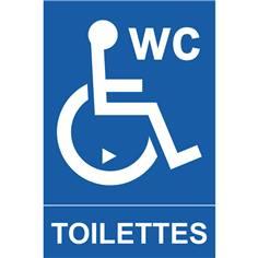 Panneau toilettes PMR avec sens de transfert