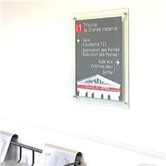 Panneau directionnel en plexiglas personnalisé