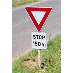 Kit Panneaux Signal avancé stop - AB5 sur poteau