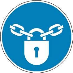 Panneau Obligation Verrouillage obligatoire ISO 7010 - M028