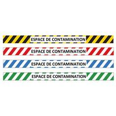 Marquage au sol espace de contamination