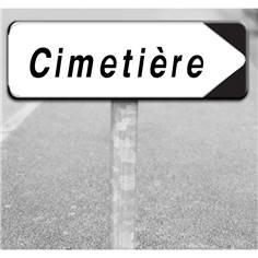 Kit Panneau routier directionnel - Cimetière - Type D29