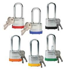 Cadenas en acier laminé - H 51 mm - clés différentes - Lot de 6 cadenas