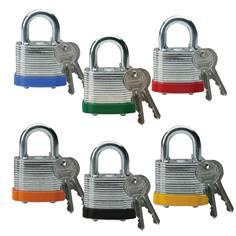Cadenas en acier laminé - H 20 mm - clés différentes - Lot de 6