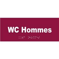 Plaque de porte texte relief - WC hommes - H 80 x L 200 mm