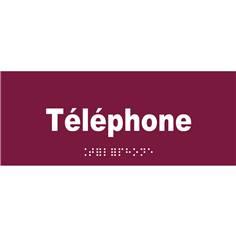 Plaque de porte Texte relief - Téléphone - H 80 x L 200 mm