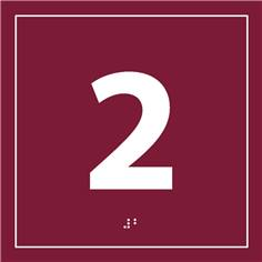 Plaque de porte chiffre relief - 2