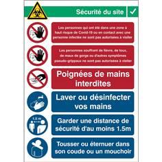 Consignes de sécurité - Réception - Covid-19