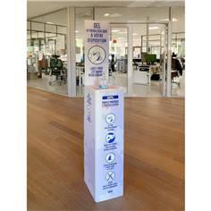 Présentoir pour gel hydroalcoolique