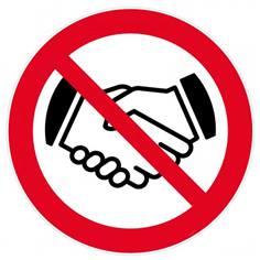 Panneau Interdiction de se serrer la main