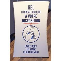 Présentoir de comptoir - Format A4 - Signalisation Gel hydroalcoolique