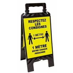 Chevalet de signalisation Respectez la distance d´1 mètre