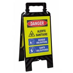 Chevalet de signalisation Danger alerte sanitaire