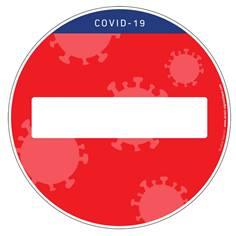 Marquage au sol rond Sens interdit - Spécial Covid-19