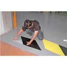 Bande adhésive de marquage au sol - Passage fréquent - Jaune / Noir - 450 x 3000 mm