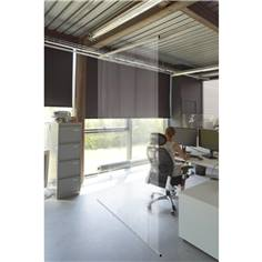 Cloison de protection transparente suspendue
