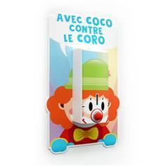 Distributeur de gel mural sur panneau Clown pour enfant