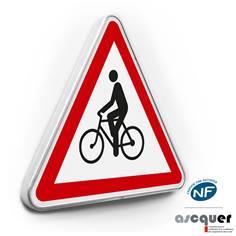 Panneau de danger débouché cyclistes - A21