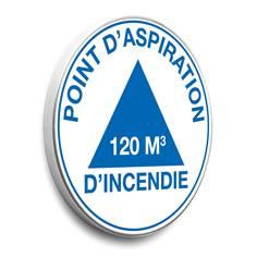 Panneau Point d´aspiration d´incendie avec m3 personnalisé - Alu Galvanisé - Ø 450 mm - Classe 1