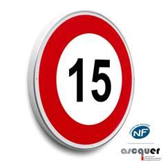 Panneau Limitation de vitesse 15 km/h - B14