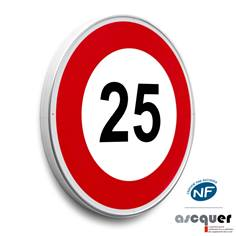 Panneau Limitation de vitesse 25 km/h - B14