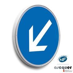 Panneau Contournement obligatoire par la gauche - B21a2