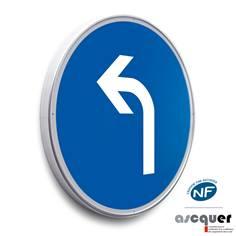 Panneau Direction obligatoire à gauche à l´intersection - B21c2