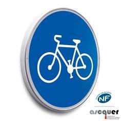 Panneau Piste ou bande cyclable obligatoire - B22a