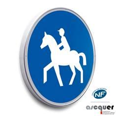 Panneau Chemin obligatoire pour cavaliers - B22c