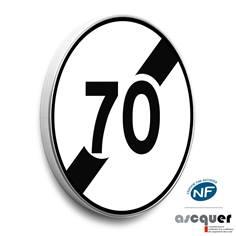 Panneau fin de limitation de vitesse - B33
