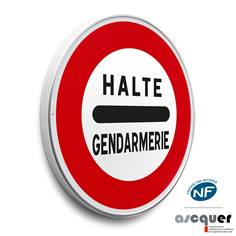 Panneau Arrêt gendarmerie - B5a