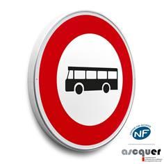 Panneau Accès interdit aux véhicules de transport - B9f