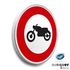 Panneau Accès interdit aux motocyclettes - B9h