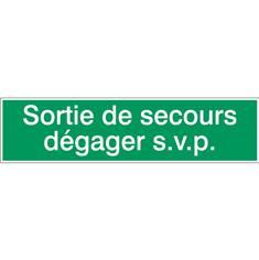 Sortie de secours dégager s.v.p. STF 510