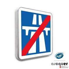 Panneau de Fin de Section de Route à Statut Autoroutier- C208