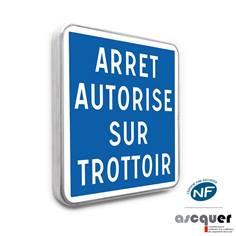 Panneau Arrêt autorisé sur trottoir - C50