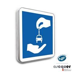 Panneau d´indication station autopartage C9
