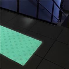 Dalle podotactile photoluminescente adhésive - 400 x 600 mm - Intérieur/extérieur
