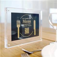 Présentoir de table aimanté et transparent