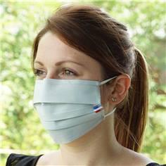 Masques grand public en tissu avec pince nez - Catégorie UNS2 - 30 lavages - DESTOCKAGE
