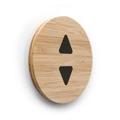 Plaque de porte picto Ascenseur ø 100 mm - gamme Bamboo