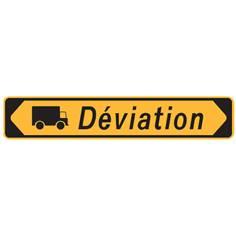 Panneau Déviation Camions - KD22b avec cache