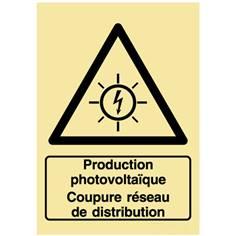 Panneau photovoltaïque - Coupure réseau de distribution - PVC photoluminescent