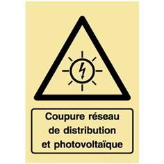 Panneau photovoltaïque - Coupure réseau de distribution et photovoltaïque - PVC photoluminescent
